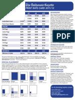 Dal Gazette Print Rates 2011 2012