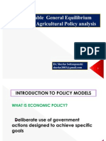 Computable General Equilibrium Analysis in Agricultural Policy Analysis