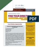 Youth Opportunities Newsletter Jan 10, 2012