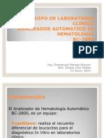Analizador de hematología BC-2800