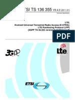 3GPP LTE Positioning Protocol (LPP)