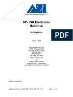 700-0014 Computrac SP-150 Balance User's Manual-Elecronic