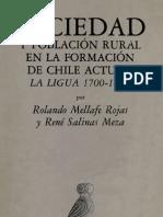 Sociedad y población rural en la formacion del Chile actual-Rolando Mellafe y ReneSalinas