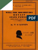 45716218 Lenin Will the Bolsheviks Retain State Power