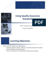 FDIC Quality Assurance Standards