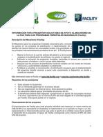 INFORMACIÓN PARA PRESENTAR SOLICITUDES DE APOYO AL MECANISMO DE LA FAO PARA LOS PROGRAMAS FORESTALES NACIONALES
