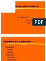 Proceso Conductual de Evaluacion Psicologica