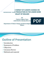 Assessing the Impact of Climate Change in the Shire Valley of Malawi