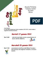 Volantino Open Day Brivio 2012