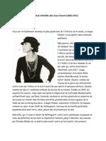 Gabrielle Chasnel Dite Coco Chanel