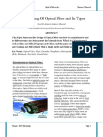 Manufacturing of Optical Fiber and Its Types