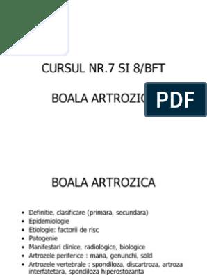 clasificarea artrozei șoldului