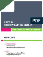Parts of a Presentation
