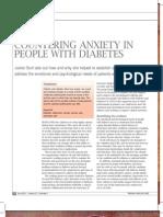 Anxietatea La Diabet