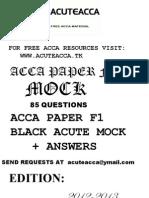 ACCA F1 CBE Black Mock    WWW.ACUTEACCA.TK