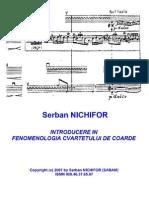 SerbanNichifor_IntroductionToTheStringQuartetPhenomenology