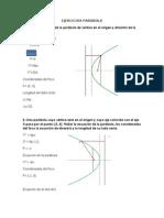 Ejercicios Parabola