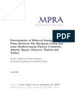 Determinants of Bilateral Immigration Flows EU and Mediterranean Countries