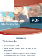 Office of the State Superintendent of Education -- ESEA Flexibility Waiver