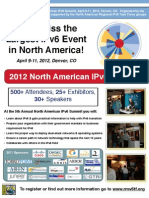 2012 North American IPv6 Summit Event Flyer