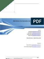 Web Services Automation Guidance (vs 2010 Unit Test & Web Test)