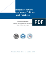 Federal Reserve Inter Agency Review of Foreclosure Policies 2011
