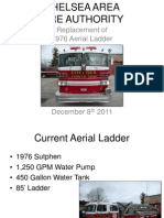 Chelsea Area Fire Authority Replacement of Aerial Ladder