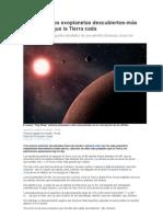 Más pequeños exoplanetas descubiertos