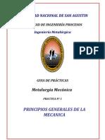 GUIA DE PRACTICAS PRINCIPIOS DE LA MECANICA Nº 1-M. Mecanica
