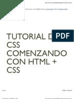 Comenzando Con HTML + CSS