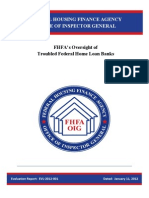 FHFA Inspector General Report - Troubled Banks
