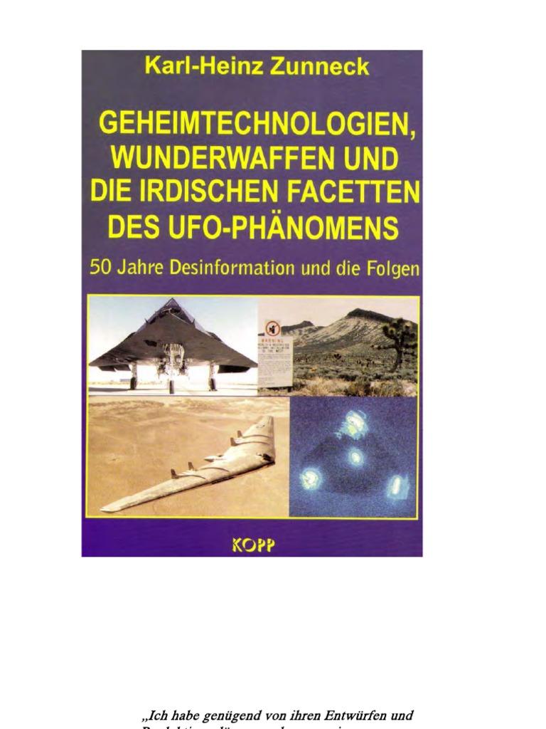 Zunneck - Geheimtechnologien 1 - Wunderwaffen Und Die Irdischen ...