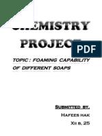 Foaming Capabilty of Soaps