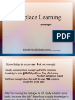 Workplace Learning for Managers