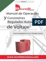 Manual de Operacion Reguladores de Voltaje