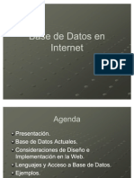 Base de Datos en Internet