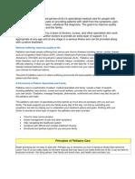 Palliative Care Handout