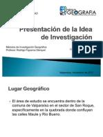 Presentación de la Idea de Investigación