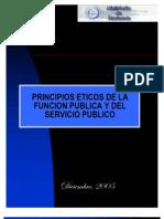 Principios Eticos de La Funcion Publica