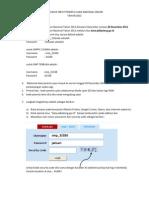 Petunjuk Input Data Peserta Online