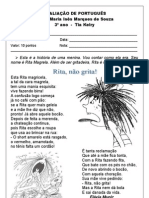 AVALIAÇÃO DE PORTUGUÊS