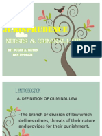My Report in Jurisprudence
