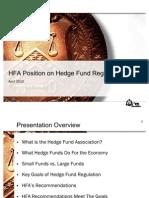 HFA Position on Hedge Fund Regulation