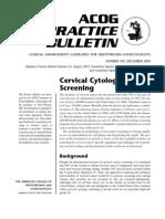 ACOG 109 Cervical Cytology Screening