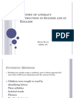 History of Literacy Instruction in Spanish and In