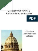 Cinquecento y Renacimiento en España