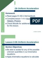 Lesson 2-2b Uniform Acceleration (1)