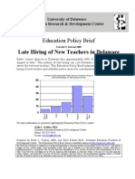 Education Policy Brief-Late Hiring of Teachers in Delaware