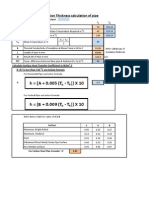 Pipe Insulation THK Calculation