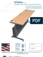 Adjustable Classroom Table Assembly Instructiosn (CTL Series)